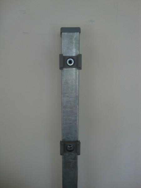 Säule verzinkt FR 60/40mm f. Gitterhöhe 1,23m