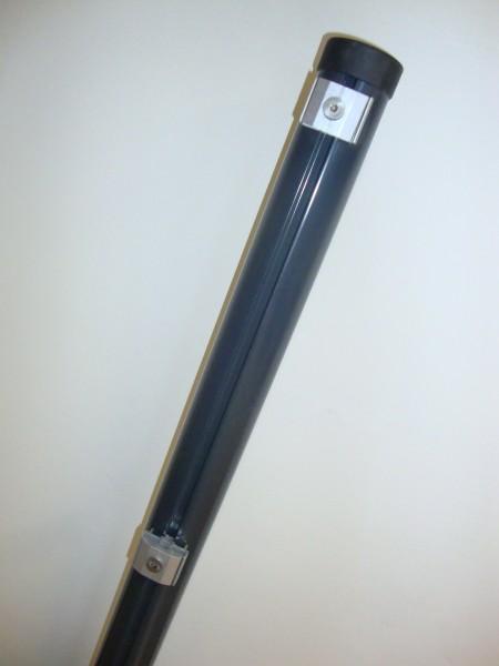 Säule anthrazit Rundrohr 48 mm f. Gitterhöhe 2,03 m