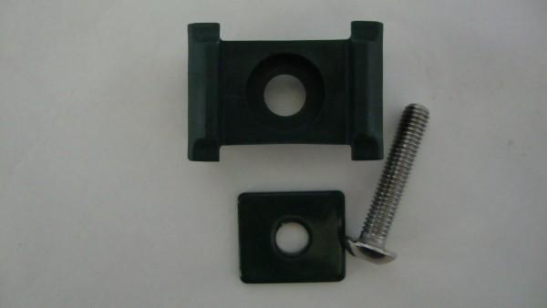 Auflageböcke mit Plättchen und Schraube f. FR-Säule 60/40mm