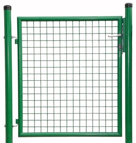 Gittertüre samt Steher und Beschlag Türgröße 1000 x 1250 mm