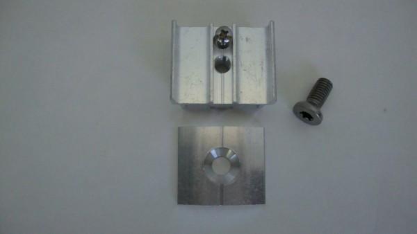 Metall-Auflageböcke mit Schraube für Rundrohrsäulen