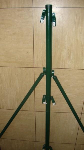 Zwischenspannpfähle grün 50 mm für Gitterhöhe 1,25m