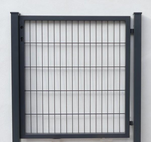 Gartentüre mit Stabmattenfüllung Ral 7016 anthrazit, 980 x 1400 mm