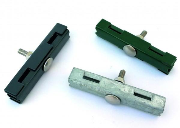 Mattenverbinder verzinkt, grün und anthrazit