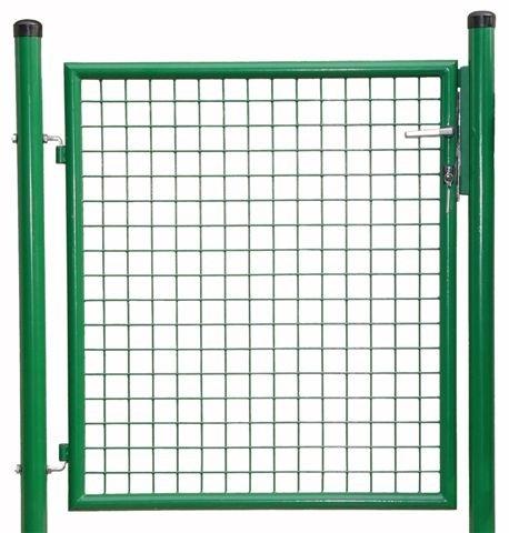 Gittertüre samt Steher und Beschlag Türgröße 1000 x 1000 mm