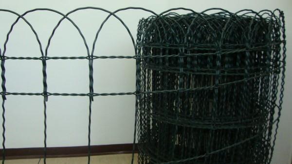Plastik Ziergeflecht grün Gitterhöhe 0,40 m