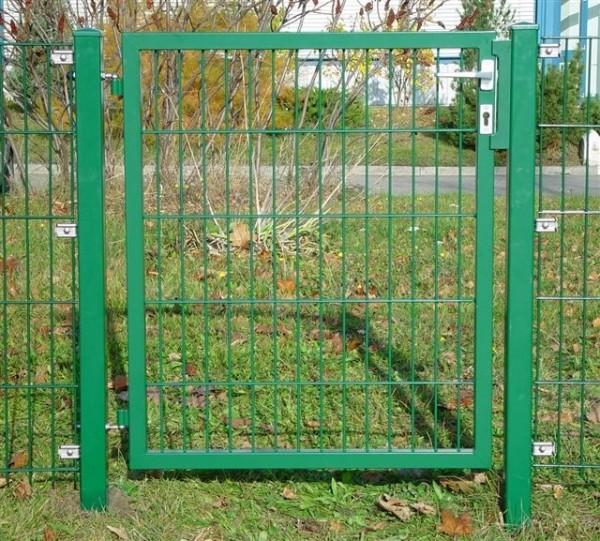 Gartentüre mit Stabmattenfüllung grün, 980 x 1000 mm