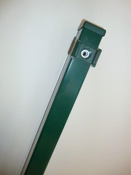 Säule grün od.anthrazit FR60/40mm f.Gitterhöhe 2,03m