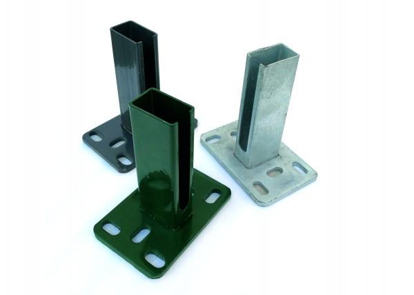 Dübelplatte für Formrohr Säulen 60/40mm